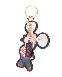Porte-clés à logo embossé Alberta Ferretti en coloris Red