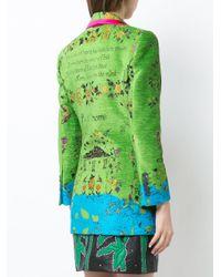 Gucci Green Landscape Print Velvet Jacket