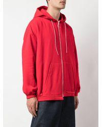 Chaqueta con capucha y cremallera Camiel Fortgens de hombre de color Red