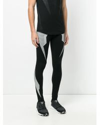 Neil Barrett Black Pattern leggings for men