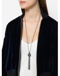 Lanvin - Gray Swan Chain Pendant - Lyst