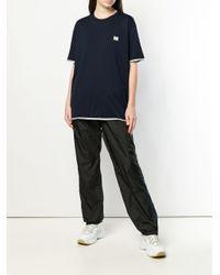 Acne コントラスト Tシャツ Blue