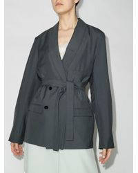 Lemaire ベルテッドジャケット Gray