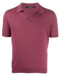 Polo classique Tagliatore pour homme en coloris Purple