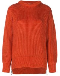 Paco Rabanne Red Pullover in Grobstrick