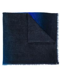 Écharpe à franges Faliero Sarti pour homme en coloris Blue