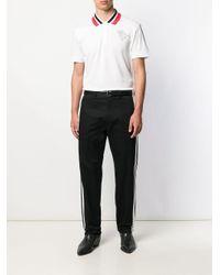 メンズ Roberto Cavalli ロゴ ポロシャツ White