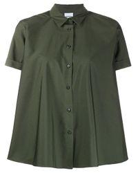 Camisa de tubo Brusa con manga corta Aspesi de color Green