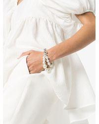 Simone Rocha White Layered Silver-tone Pearl Bracelet