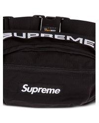 メンズ Supreme ロゴ ベルトバッグ Black