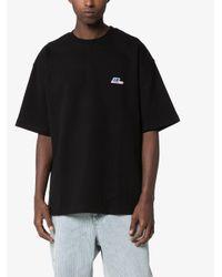 メンズ ADER ERROR ロゴ Tシャツ Black
