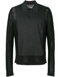 メンズ Maison Margiela ポロパネル セーター Black