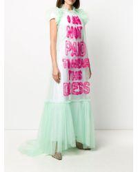 Платье Из Тюля С Оборками Viktor & Rolf, цвет: Green