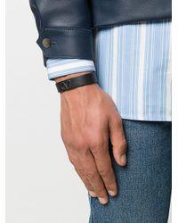 Bracelet Garavani Go à logo Valentino Garavani pour homme en coloris Black
