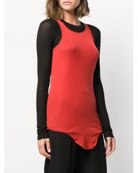Rick Owens Red Jersey-Top