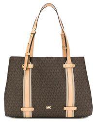 546782ac48f770 Lyst - MICHAEL Michael Kors Monogram Tote Bag in Brown