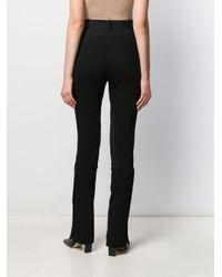 Mugler Black Ausgestellte Hose
