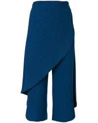 Issey Miyake Blue Cropped Trousers