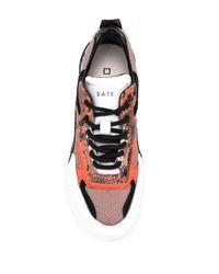 Sneakers con suola rialzata di Date in Multicolor
