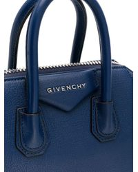 Givenchy Blue Small Antigona Leather Tote