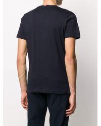 メンズ Tommy Hilfiger カラーブロック ロゴ Tシャツ Blue