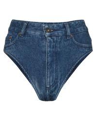 Pantalones vaqueros cortos de talle alto Y. Project de color Blue