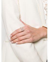 Bague Baguette Spine V Jewellery en coloris Metallic