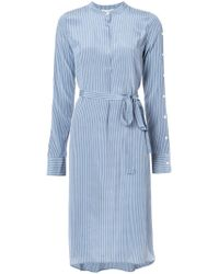 Robert Rodriguez | Blue Belted Stripe Shirt Dress | Lyst