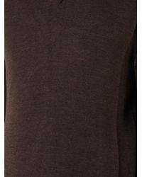 Cerruti 1881   Brown V-neck Top for Men   Lyst