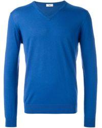 メンズ Fashion Clinic Vネックセーター Blue