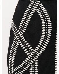 Жаккардовая Юбка Alexander McQueen, цвет: Black