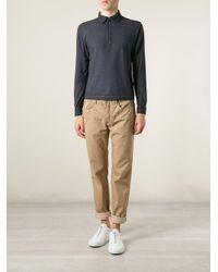 Massimo Alba Blue 'ischia' Polo Shirt for men