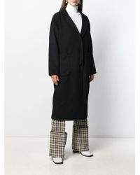 L'Autre Chose バック ベルト コート Black