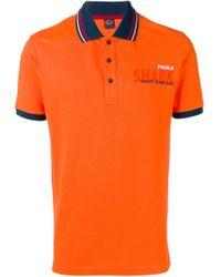 Polo con logo estampado Paul & Shark de hombre de color Orange