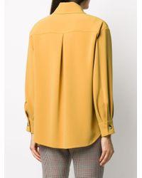 Alberto Biani クレープシャツ Yellow