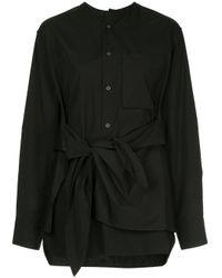 Camisa con detalle de nudo Y's Yohji Yamamoto de color Black