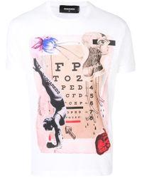 T-shirt con stampa di DSquared² in Multicolor da Uomo