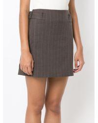 Egrey - Brown Side Buckles Straight Skirt - Lyst