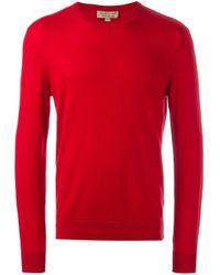 Burberry Red Crew Neck Jumper for men