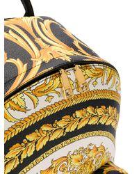 Sac à dos à imprimé baroque Versace pour homme en coloris Black