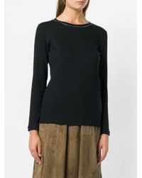 Fabiana Filippi Blue Embellished Fine-knit Sweater