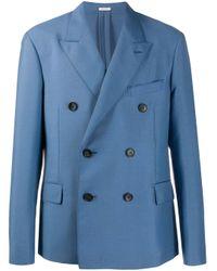 Blazer oversize con doble botonadura Lanvin de hombre de color Blue