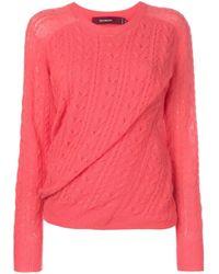 Jersey con efecto torcido Sies Marjan de color Pink