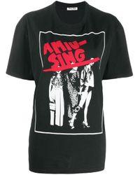 Miu Miu グラフィックプリント Tシャツ Black