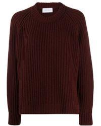 Christian Wijnants Red Oversized Rib Knit Jumper
