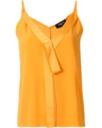 Paule Ka Yellow Camisole-Top mit V-Ausschnitt
