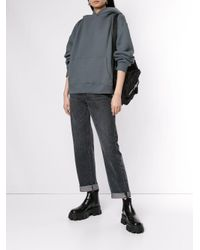 Alexander Wang Blue Zipped Shoulder Hoodie