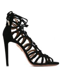 Aquazzura Black 'oh Lala' Sandals