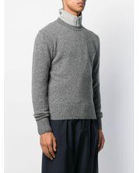 Pull à col ras du cou AMI pour homme en coloris Gray