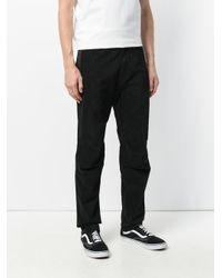 Maharishi Black Panelled Regular Trousers for men